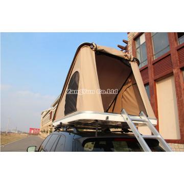 Tienda en la azotea triangular Brace, techo de poliéster para 2 personas en la azotea