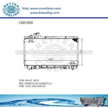 RADIATOR 164007A110 / 164007A111 für TOYOTA 96-97 RAV4 Hersteller und Direktverkauf!