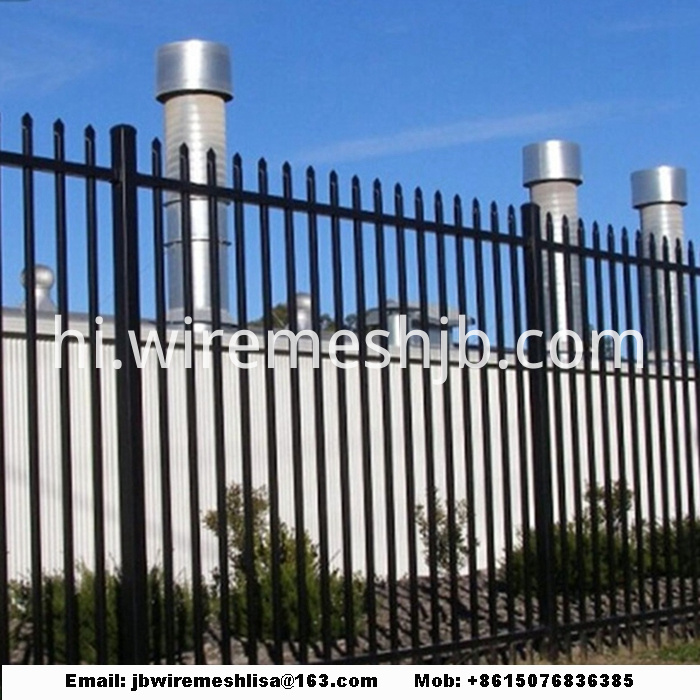 Black Color Zinc Steel Wrought Iron Fence