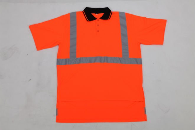 reflective saftey high vis polo shirt