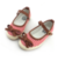 Lindo sapatos de lona listrada miúdos crianças sapatos casuais com arco fivela pulseira
