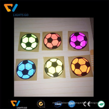 Cheap custom made round reflex sticker football shape decal