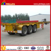 Semirremolque de transporte esquelético tipo contenedor de triple eje de 40 pies