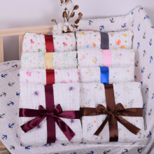 Tamaño diferente 100% algodón Baby Muslin Swaddle / Baby Swaddle Blanket