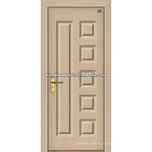 Роскошные двери/МДФ ПВХ деревянные двери с ПВХ листа (JKD-1815) для внутренних дверей используется