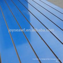 Placa de mdf ranurada / panel de slatwall de aluminio
