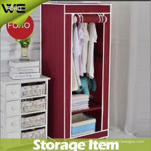 DIY Fabric Steel Home Furniture Simple Bedroom Canvas Wardrobe