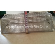 Professional Wire Mesh Storage Basket With Handles