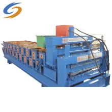 Máquina formadora de rolos de aço com cor de painel de telhado ondulado