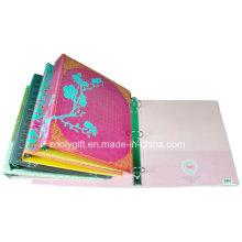 Personalizada impresión PVC 3 carpeta de anillos con bolsillos de PVC transparente interior