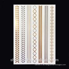 Gold Haar Tattoo Temporäre Metallic Tattoo Aufkleber für Schönheit