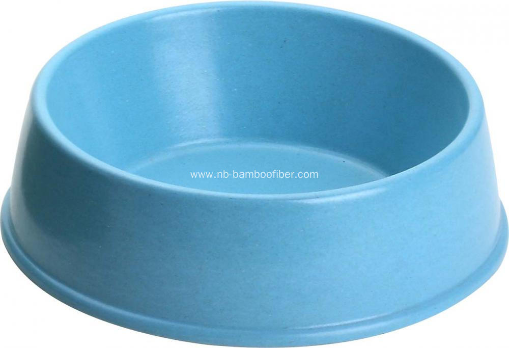 Bamboo fiber dog bowl