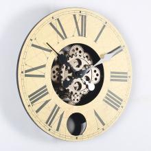 14 Inch Wood Gears Hanging Clocks
