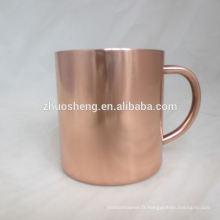 meilleure vente personnalisé chaque jour besoin de tasse à café en acier inoxydable