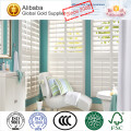Waterproof PVC or Fuax wood Plantation Shutter Blinds with L-frame and Z-frame