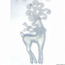 Décorations en or blanc en plastique transparent rennes