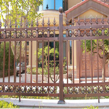 panel decorativo de la valla de aluminio 12 postes de la cerca de metal del pie flecha