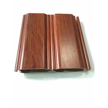 Profil en aluminium de porte de garage de couleur de grain en bois