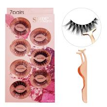 14 options Monday to Sunday real 3d mink eyelashes box 7 pairs fake eyelashes wholesale