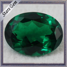 Round Green Loose Gemstone Nano Spinel Synthétique Spinel
