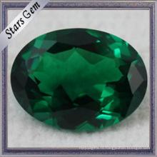 Синтетическая шпинель Nano Spinel с круглым зеленым свободным драгоценным камнем