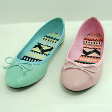 2014 fashion casual green or pink women flat shoe ballerina
