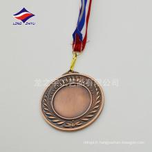 Médailles de style vintage personnalisées Médailles en blanc Médailles de cuivre