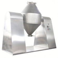 2017 W series double tapered mixer, SS double cone blender principle, horizontal solid liquid mixing equipment