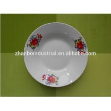 Restaurante de longa duração de serviço personalizado e placa de cerâmica de uso diário