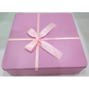 Pink Square Biscuit Tin Box
