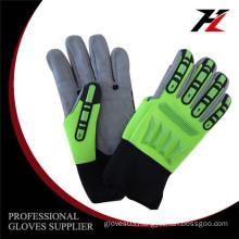 New design high quality mechanic cut fingers impact gloves