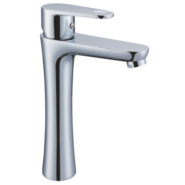 Brass Chrome Basin Mixer Badan Tinggi