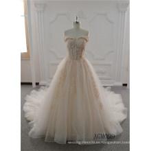 El último vestido de boda del vestido de bola nupcial de la muchacha viste los vestidos largos de encaje de lujo para las mujeres
