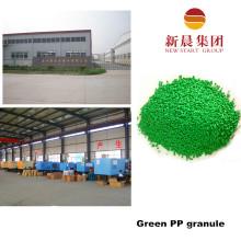 Зеленый цвет вторичного впрыска ПП гранула