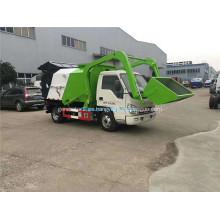 Forland pequeño camión de basura hidráulico de tipo abierto