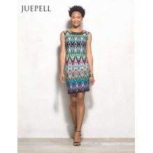 Vestido casual de mujer con estampado floral de África