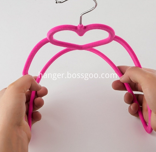Flocked Suit Coat Hanger