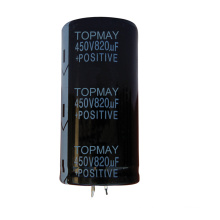 820UF 450V Snap-in Terminal Electrolytic Capacitor 105c