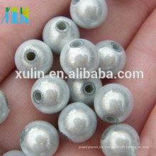 joyas de acrílico blanco puro redondo milagro perlas al por mayor