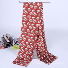 Lady Fashion Printed Satin Silk Magic Mutifunctional Collar Scarf (YKY1091-5)