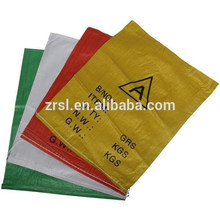 Sac tissé pp blanc / sac pour riz / farine / nourriture / blé 40KG / 50KG / 100KG, sac tissé polypropylène