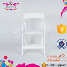 SINOFUR Brand outdoor solid wood wedding folding chair