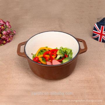 Más vendidos Cazuela de hierro fundido Brown esmalte Corea Cocinar Olla
