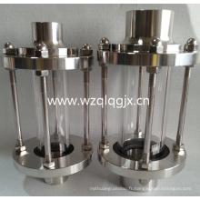 Hygiène sanitaire en acier inoxydable soudé verre de vue