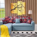 Plum Blossom Canvas Paintings/Group Flower Handmade Artwork/Modern Wall Art Decor