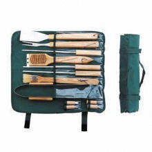 Wooden Handle BBQ Tool Set with 1.5mm Thickness