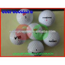 Venta personalizada pelotas de golf iluminadas led 2016