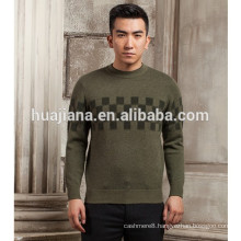 man's jacquard cashmere fashion sweater