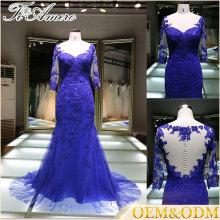 2017 vente en gros nouvelle mode plus populaire plus la taille en mousseline de soie applique soir robe de mariée pour mariage