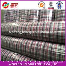 100% coton plaine fil teinté de haute qualité tissu pour le vêtement 100% coton fil teint rayé tissu / shirting des hommes